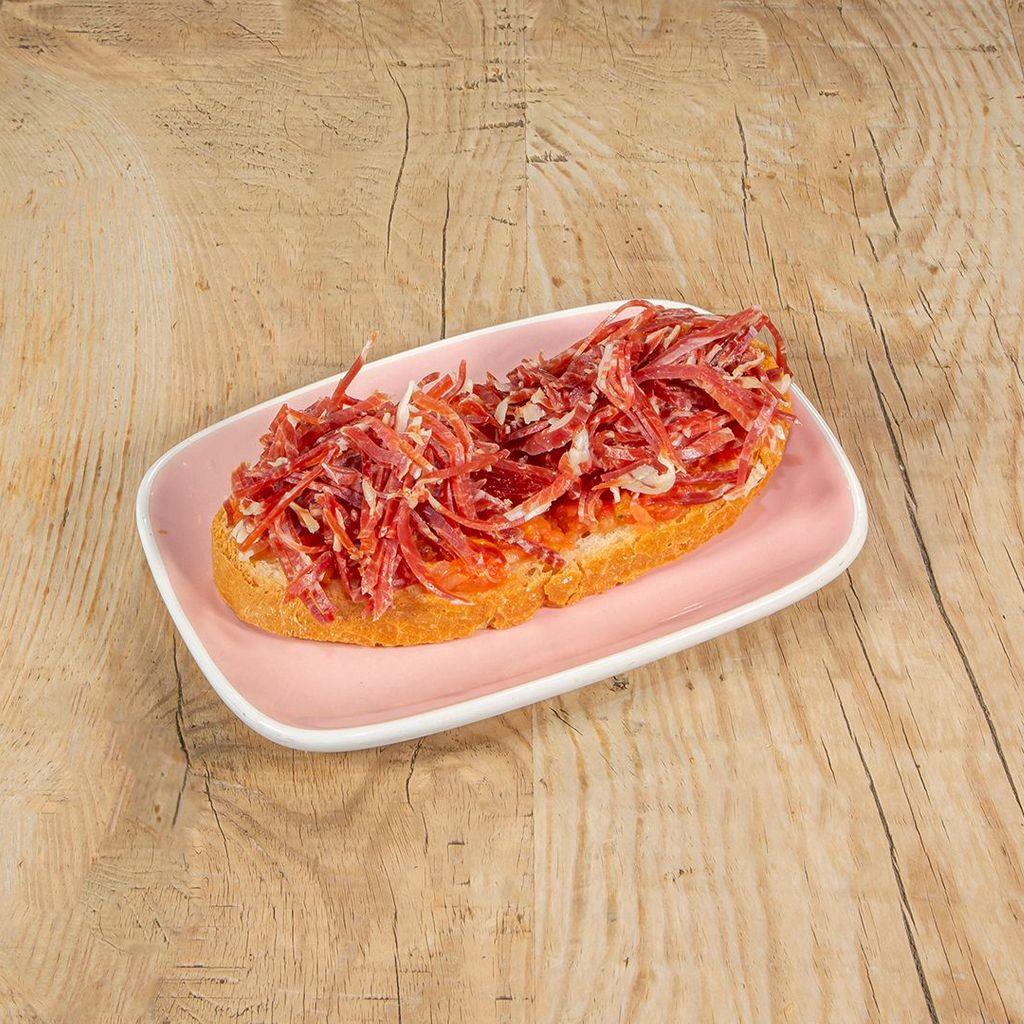 Jamón ibérico, tomate y AOVE