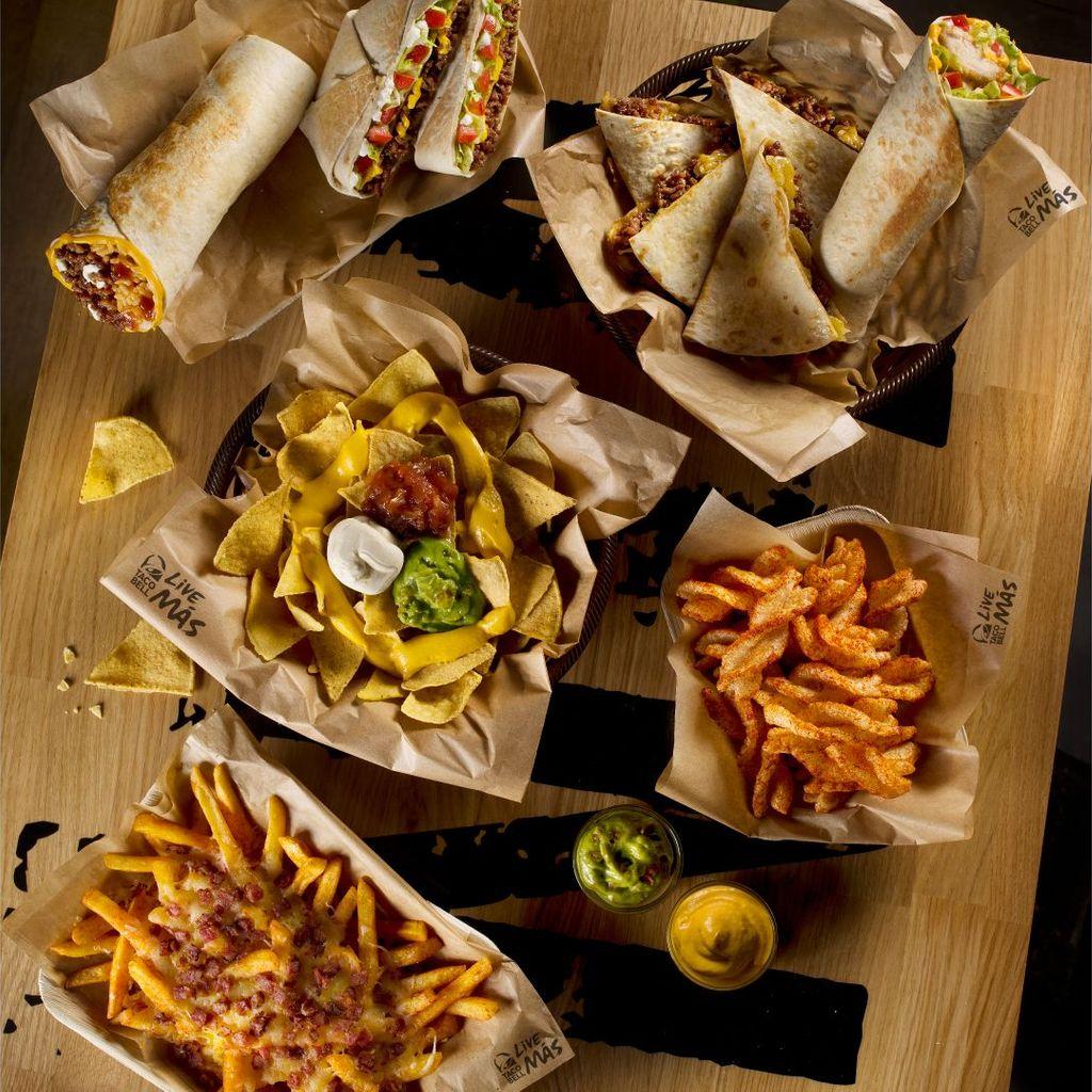 Para 4: Crunchywrap + Quesarito + Quesadilla + Chicken Burrito