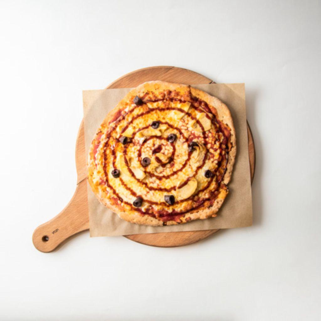 Pizza de Pollo con Salsa BBQ sin Gluten
