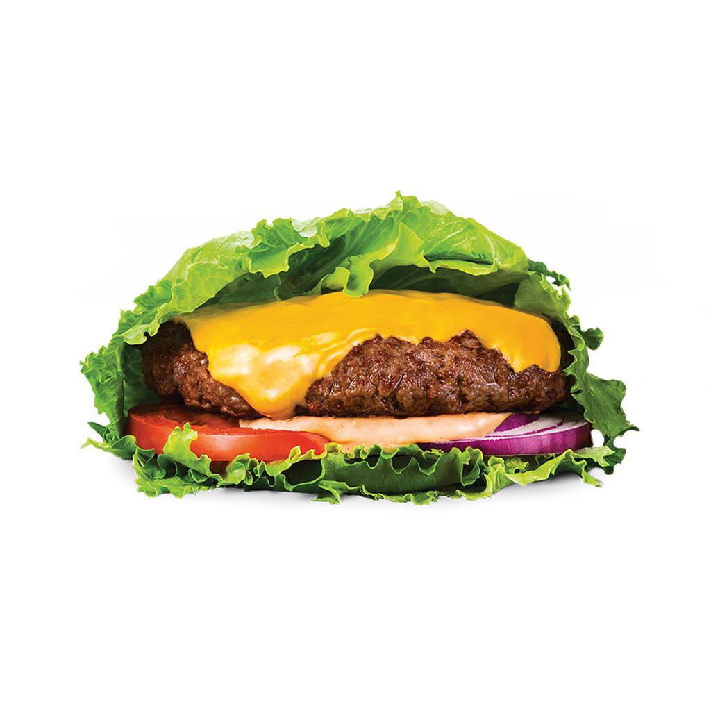 Plant Beef Burger z Serem w Sałacie