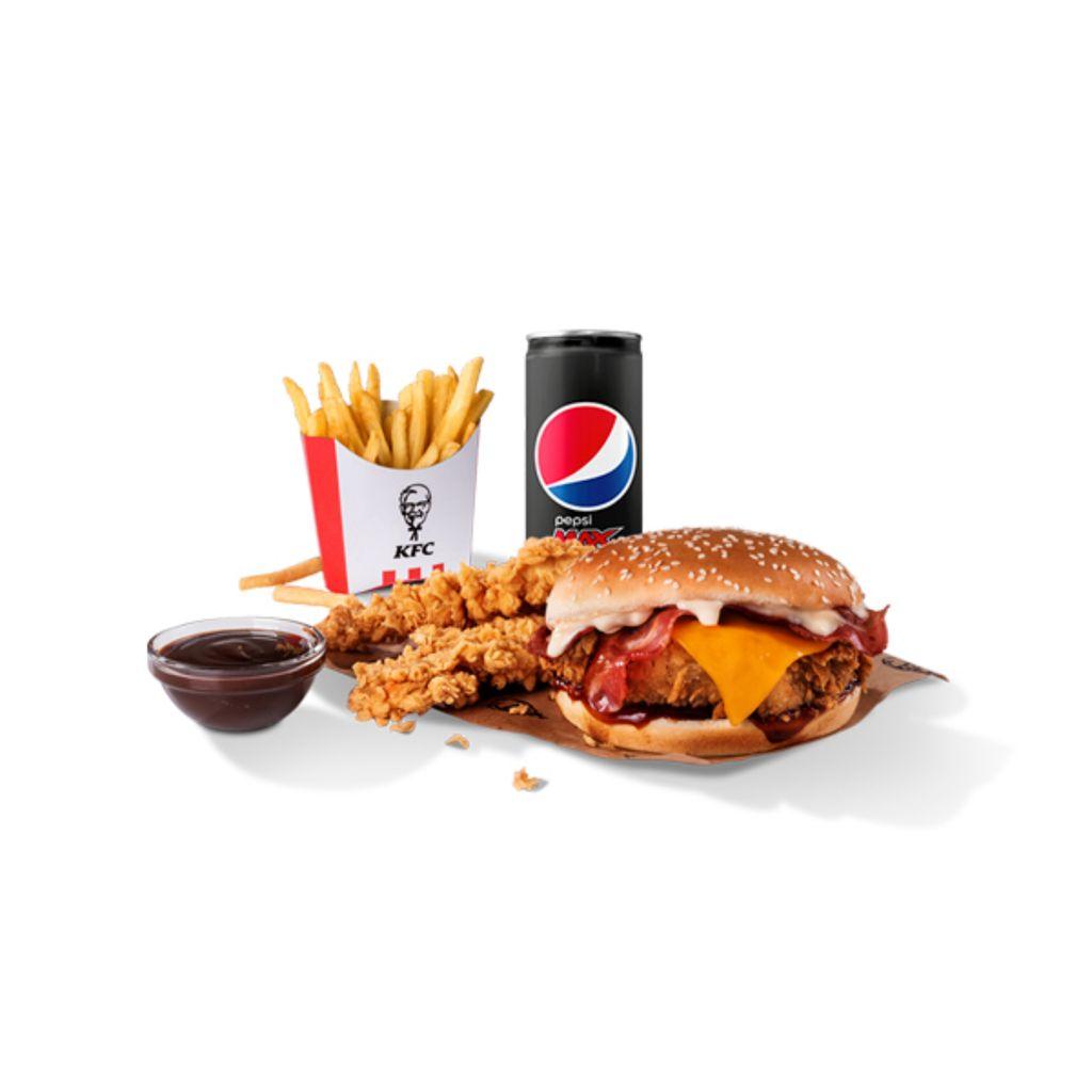 Menú BBC Burger + 2 tiras con salsa