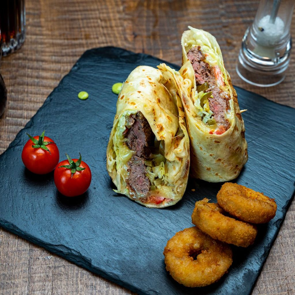 Beef burrito menu