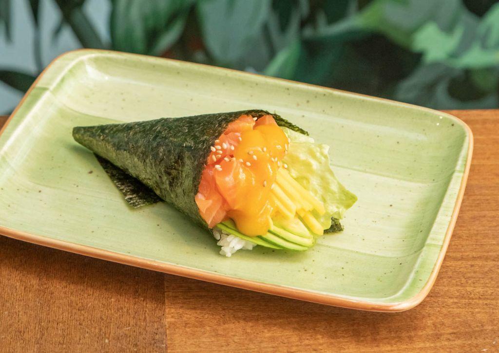 Temaki Salmone cube al mango
