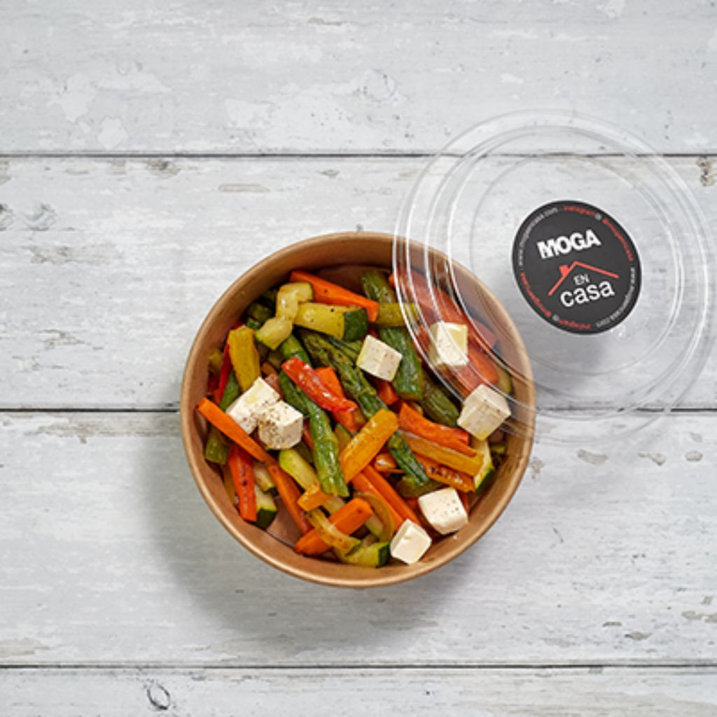 Verduras salteadas con tofu