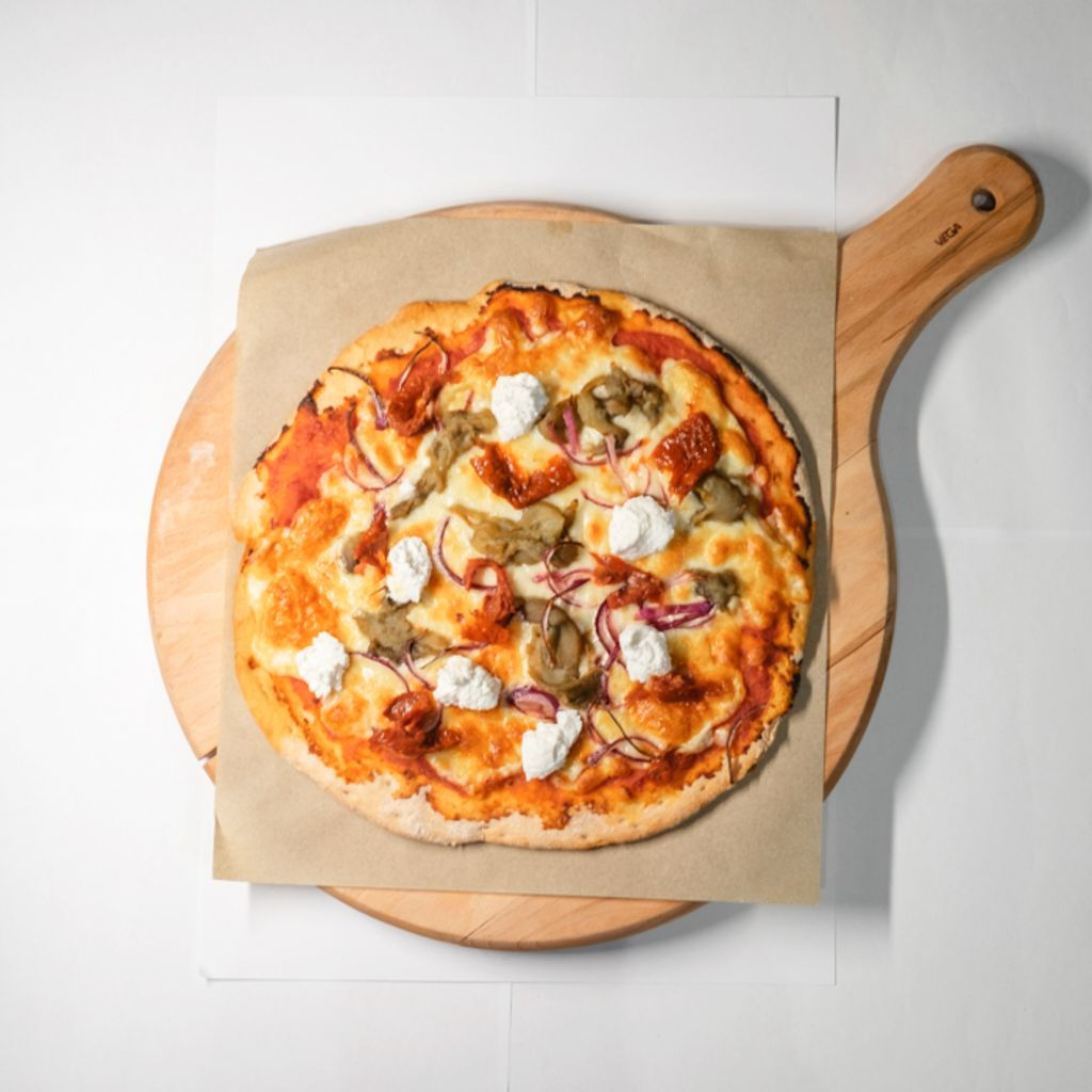 Pizza Vegetariana con Ricota sin Gluten
