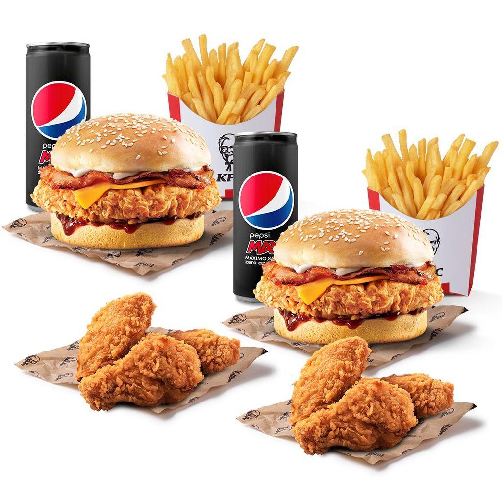 Menú Burger + 6 Alitas Picantes