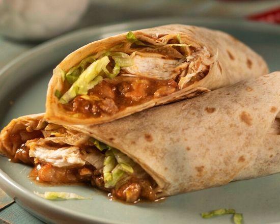 Menú de Burrito de Tinga de Pollo