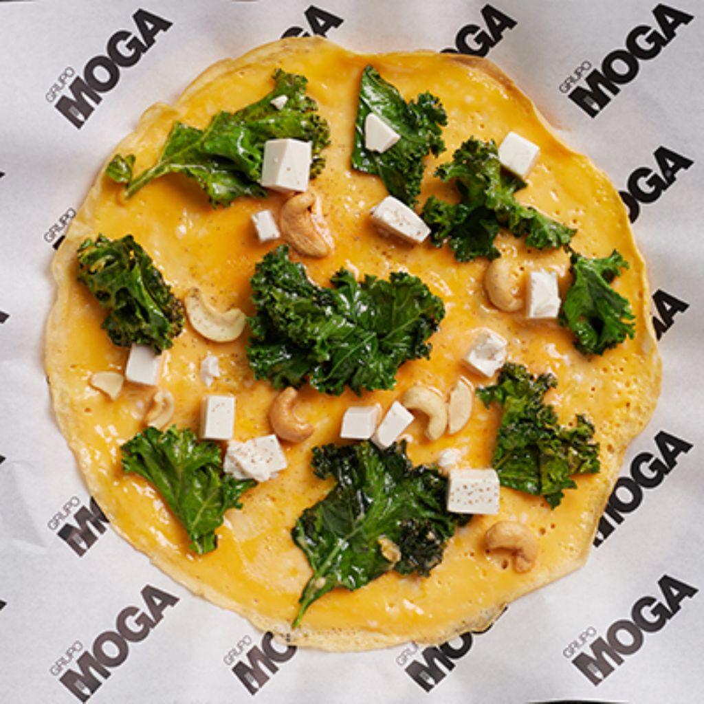 tortilla vaga de tofu,kale y anacardos