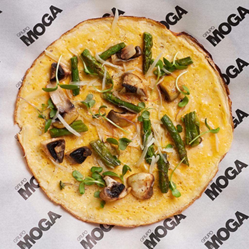 tortilla vaga de queso trigueros y champiñon