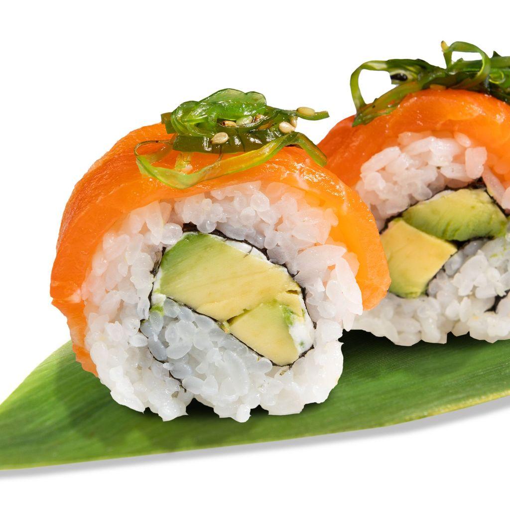 Salmon avocado uramaki (8ud)