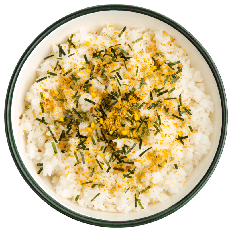 Arroz blanco con furikake