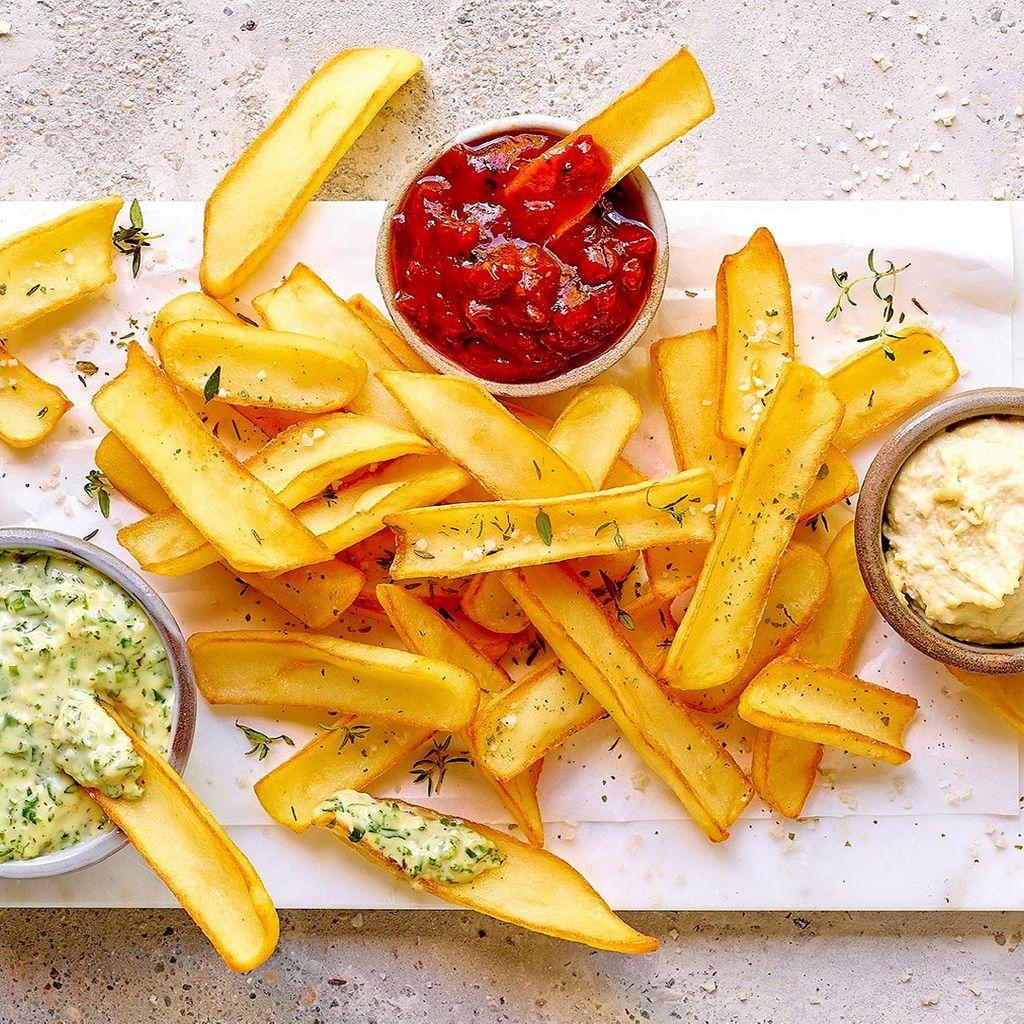 Dipper 3 salsas   Fries to Dipe