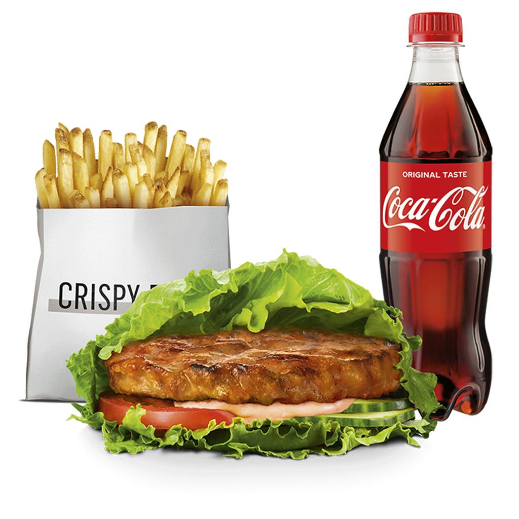 Grillowany Kurczak Burger w Sałacie, zestaw