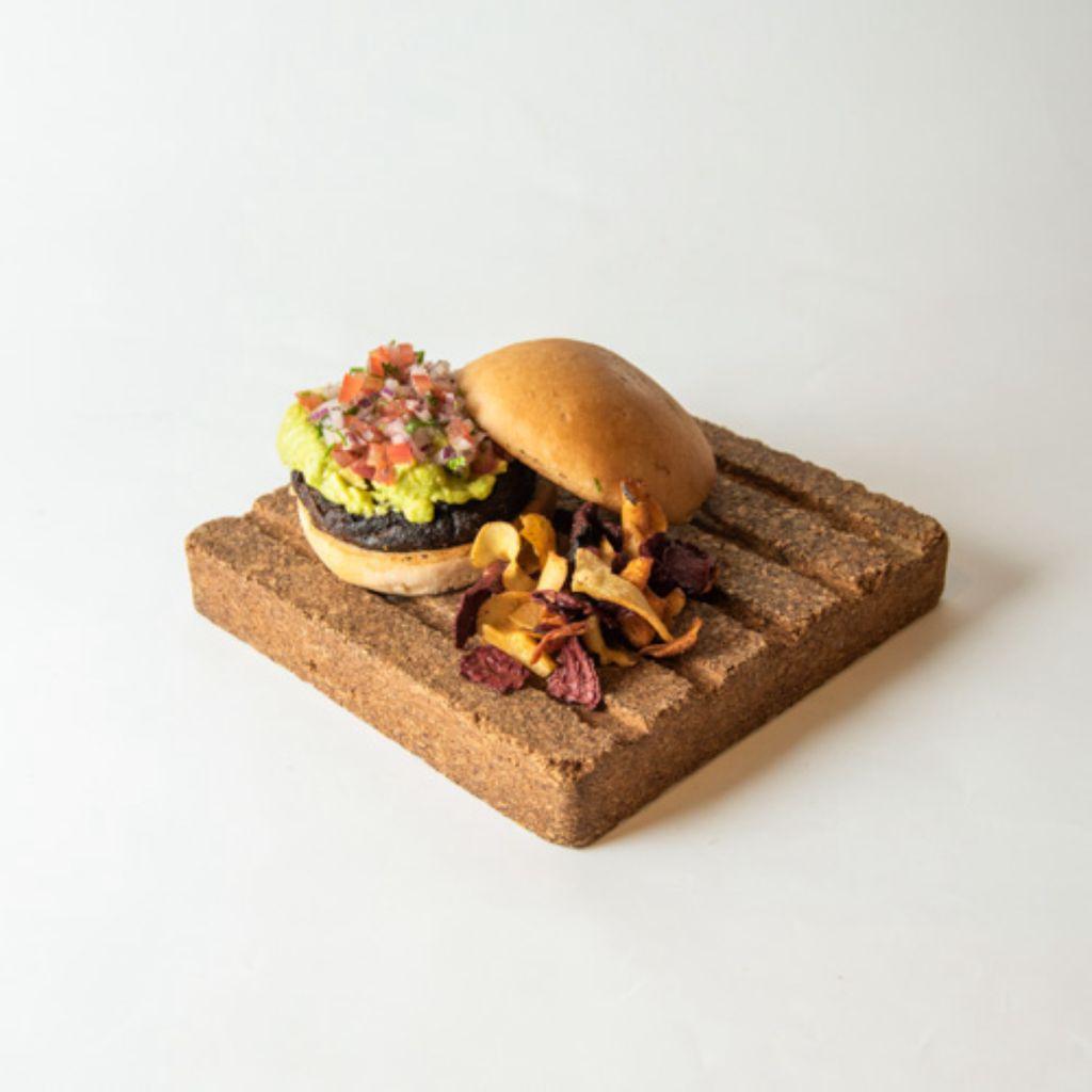 Hamburguesa vegana de berenjena ahumada sin gluten