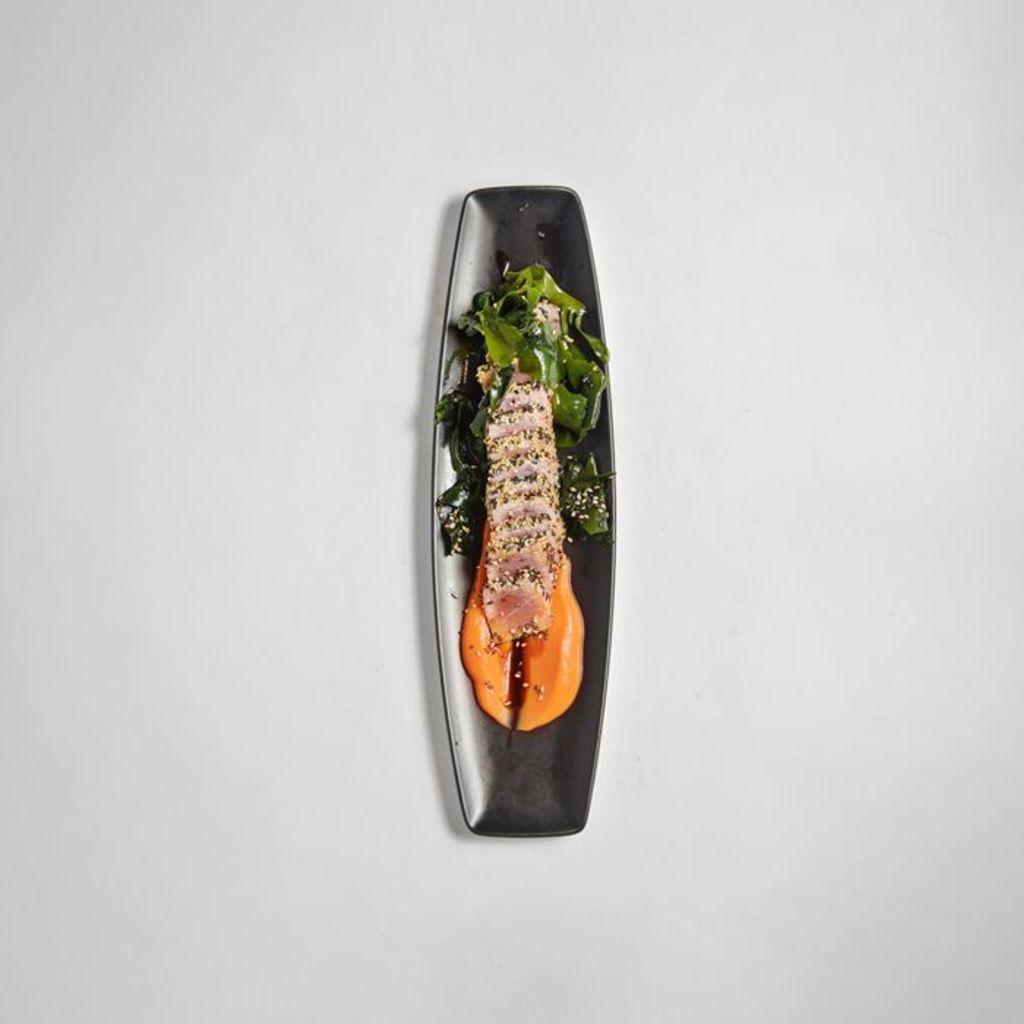 Tataki de Atún rebozado en sésamo sin Gluten