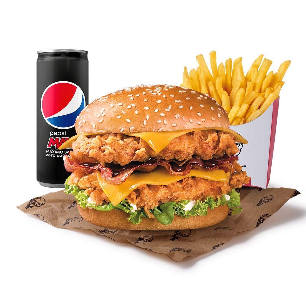 Menú Doble Burger Bacon BBQ Cheddar
