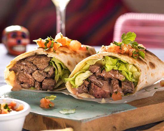 Menú de Burrito Arrachera de Ternera