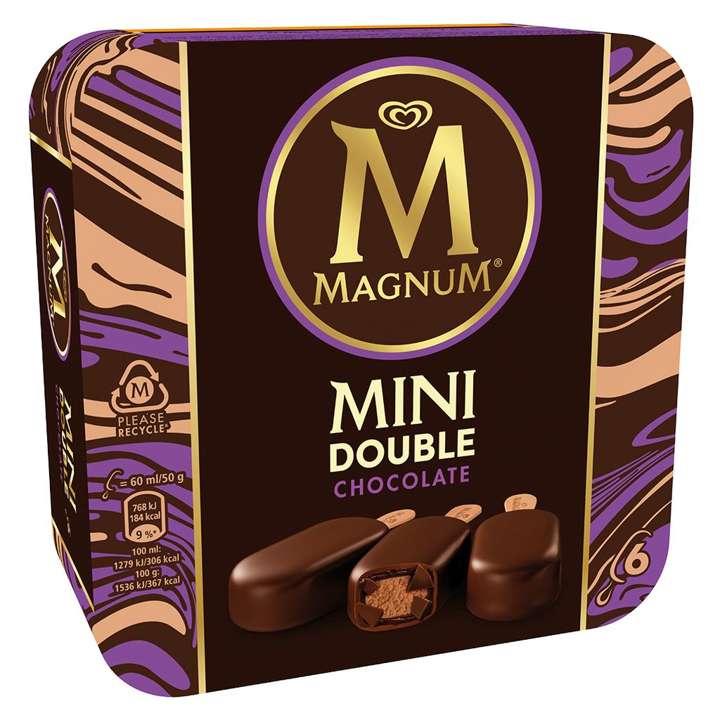 Magnum Mini Double Chocolate 6 unidades