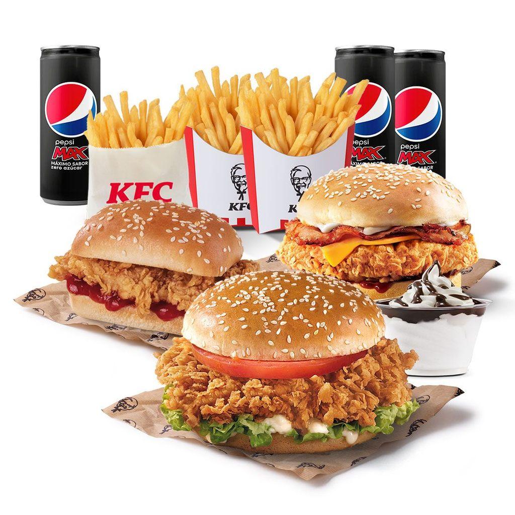Menú Original Burger + Menú BBC Burger + Menú Infantil