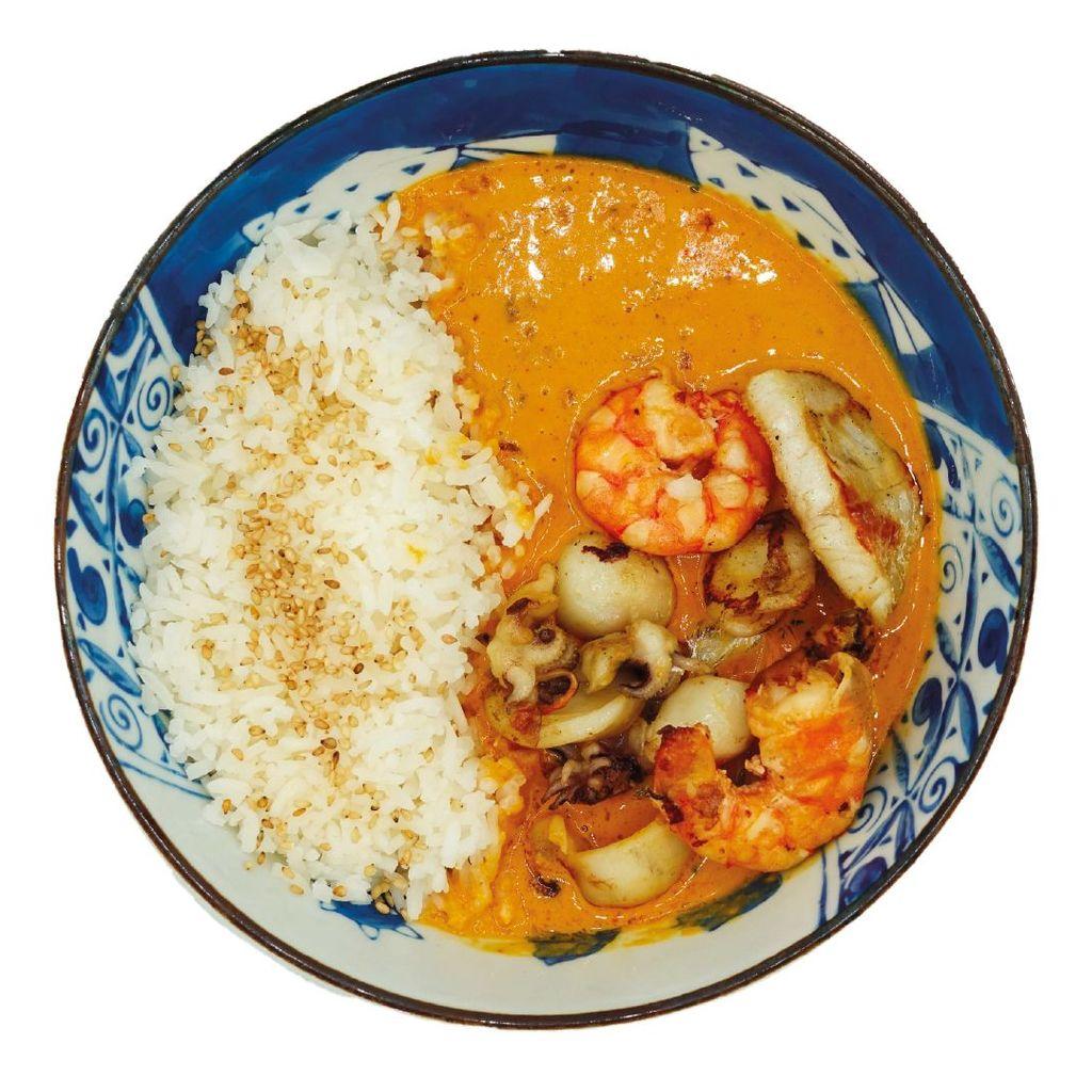 Riso Curry Pesce