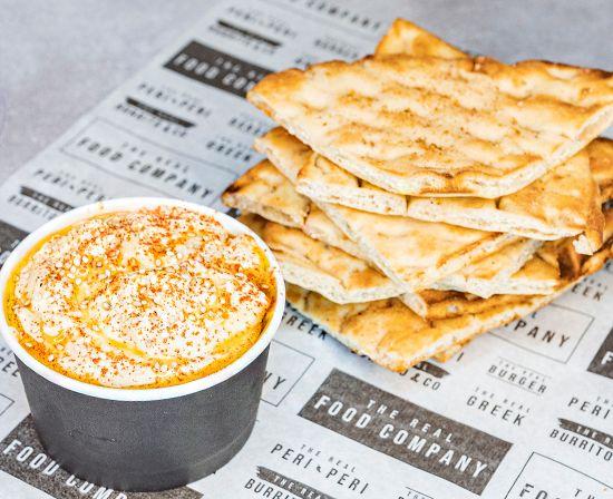 Snack de Hummus con Pita