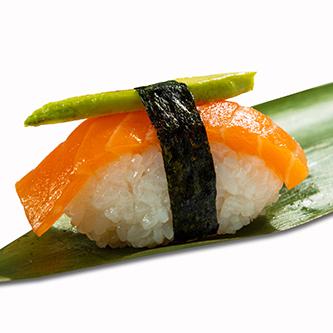 Avocado salmon nigiri (1ud)