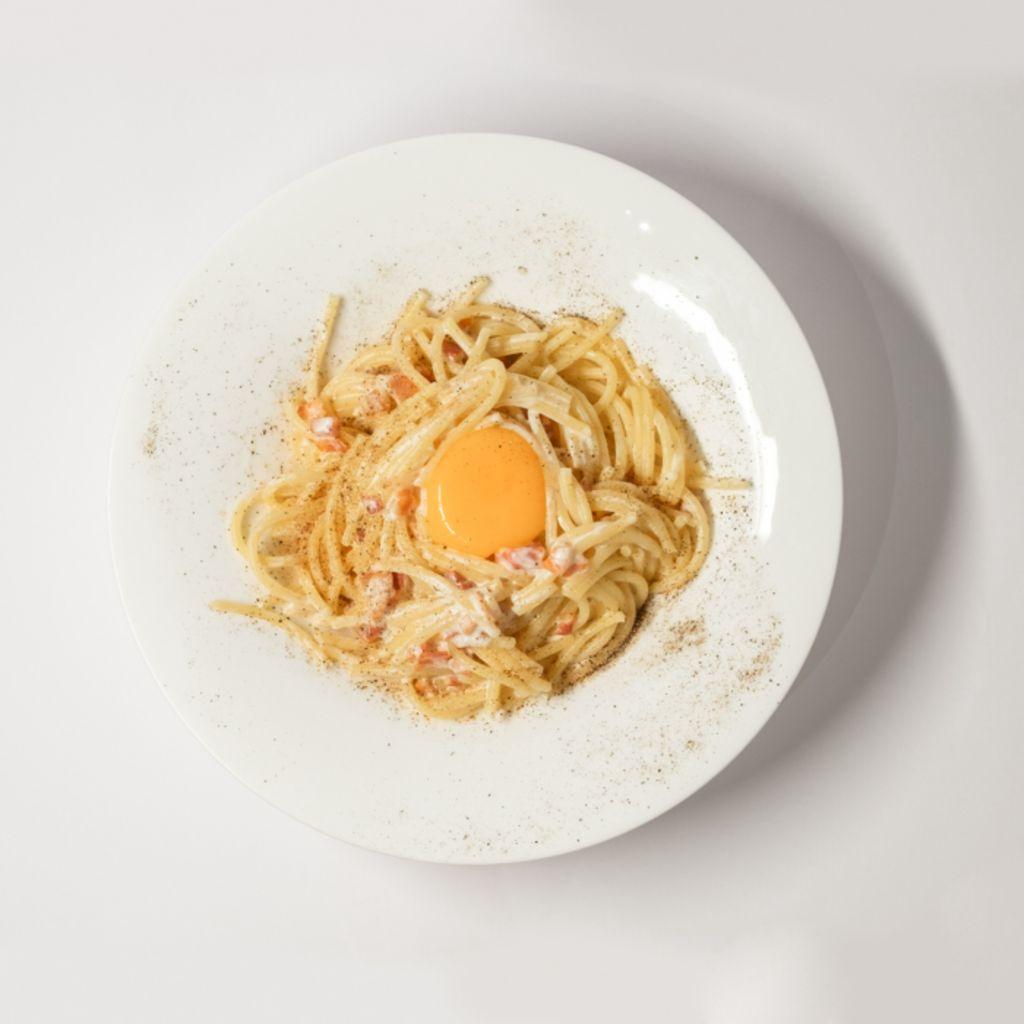 Spaghetti Bio a la Carbonara al Estilo M2
