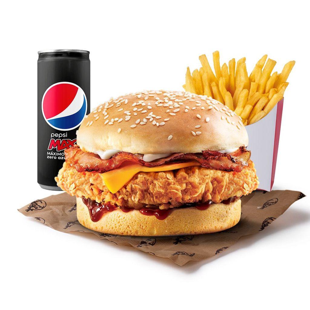 Menú Burger Bacon BBQ Cheddar