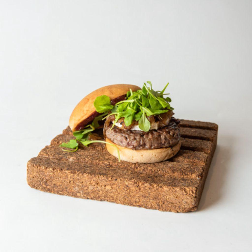 Hamburguesa Black Angus con queso de cabra sin gluten