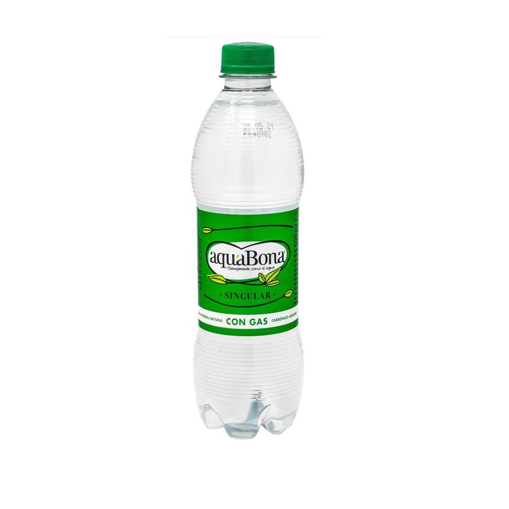 Agua con gas (500 ml)
