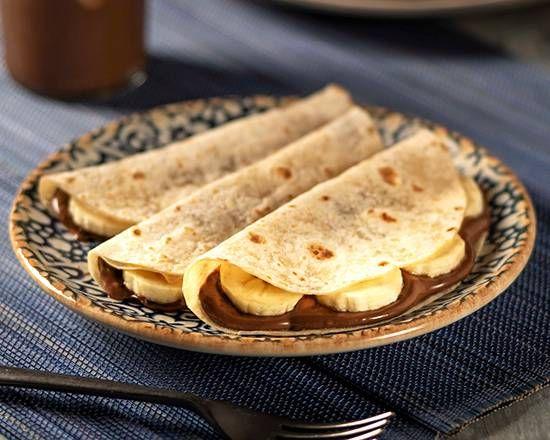 Quesadillas de Nutella y Plátano