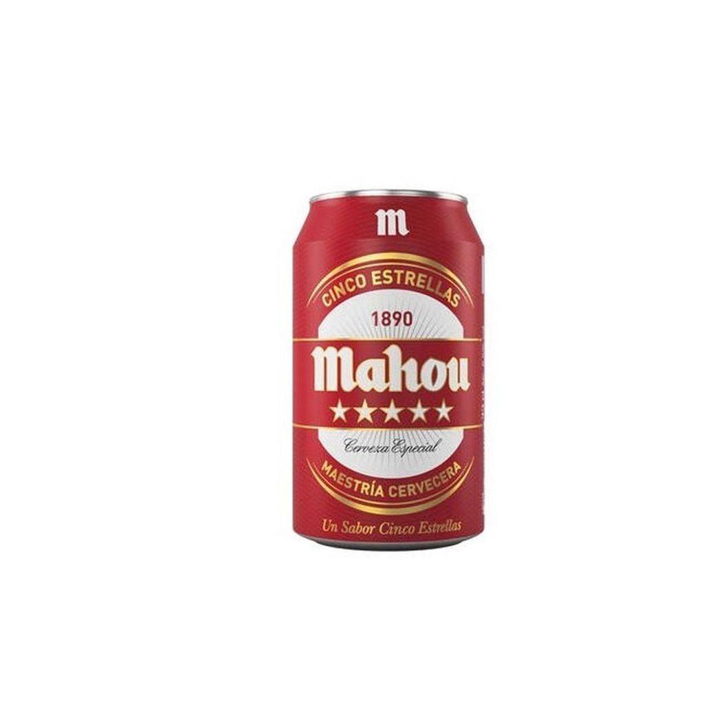 Cerveza Mahou 5 Estrellas de 33 Centilitros