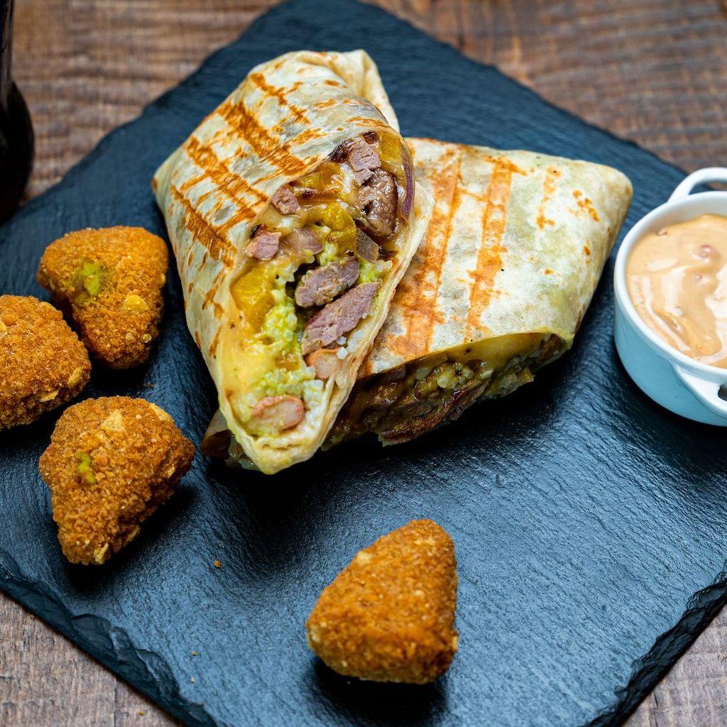 Veal burrito menu