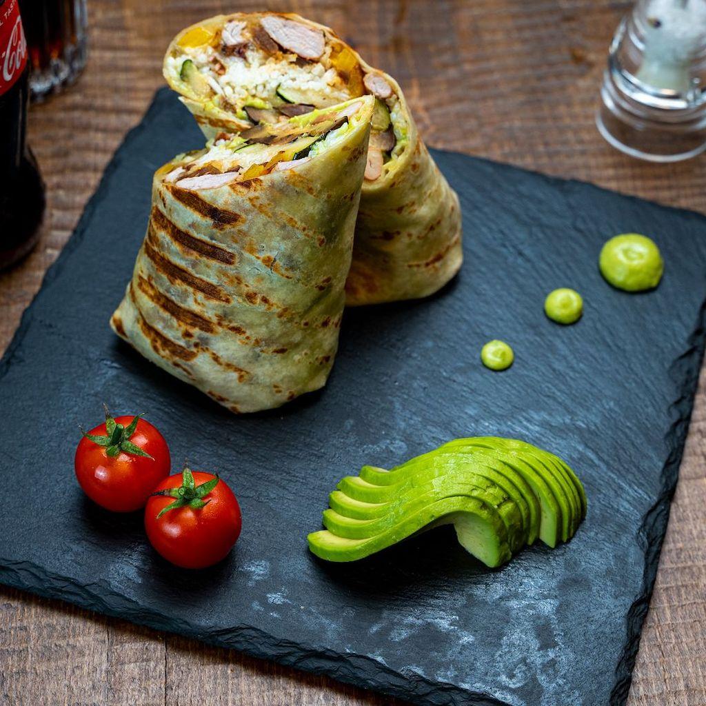 Zebra burrito menu